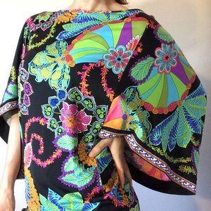 Trina Turk Tops - Trina Turk Neon Rainbow Dolman Paisley Tunic Dress